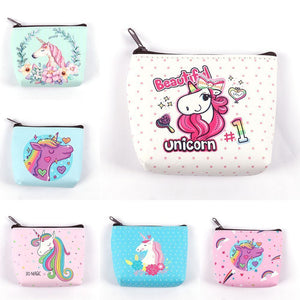 Fashion Cartoon Unicorn Flamingo Pattern Purses Cute Girl Coin Purses Holder Kawaii Casual Coin Wallet Dollar Money Mini Bag - thefashionique