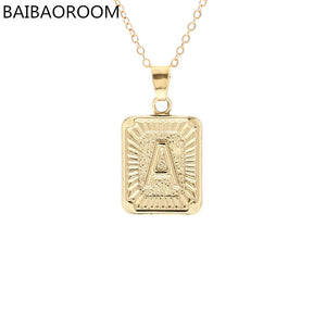 Fashion Jewelry Brand English Alphabet Pendant Necklace For Women Gift - thefashionique