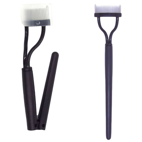 Fashion Make up Mascara Guide Applicator Foldable & Siamesed Eyelash Comb Eyebrow Brush Curler Beauty Essential Tool