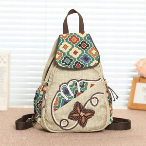 Fashion Multicolor Flowers Pattern Small School Backpack For Teenagers Girls Female Handmade Anti-theft Mini Backpacks - thefashionique