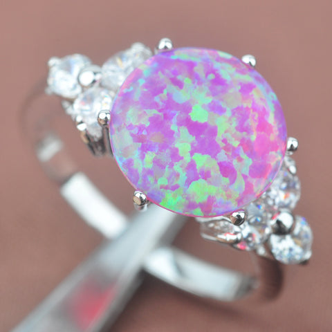 Fashion Pink Opal Stones 925 Silver For Women Cubic Zirconia Ring Hot Sell PA002 - thefashionique