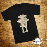 Fashion Short Sleeve T Shirt Dobby In Harry Potter Printed 100% Cotton Top Tees Women Casual O Neck T-Shirt Unisex Couple TShirt - thefashionique