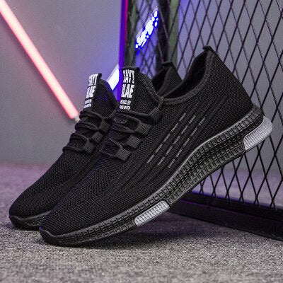 Fashion Sneakers Men Vulcanized Shoes Air Mesh Mens Trainers Lightweight Casual Shoes Men Black Footware Tenis Masculino
