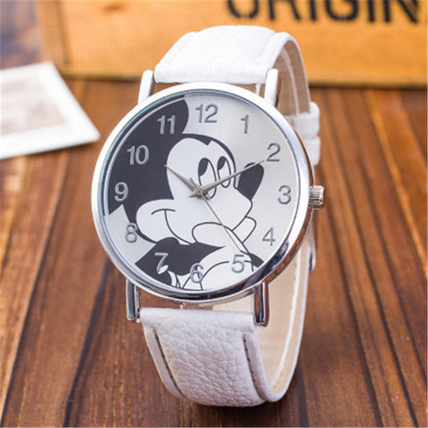 Watches New Brand Retro Leather Women Watches Fashion Denim Cartoon Girl Quartz Watch Ladies Monkey Dial Wrist Watch Relogio Feminino Men's Watches