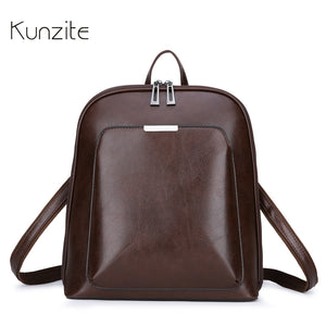 Fashion Women Backpack High Quality Youth Leather Backpacks for Teenage Girls Female School Shoulder Bag Daily Bagpack mochila - thefashionique