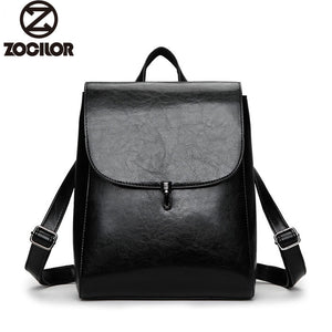 Fashion Women Backpack High Quality Youth Leather Backpacks for Teenage Girls Female School Shoulder Bag Lock Bagpack mochila - thefashionique