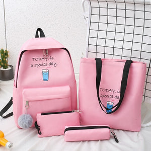 Fashion Women Backpack Nylon Laptop Shoulder Bag New School Bag For Teenage Girl Large Capacity Mochilas Female Student Backpack