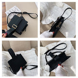 Fashion Women Bags Solid Color Shoulder Messenger Bags Multi-pocket Women Totes Handbags Clutch Pouch Female Bag