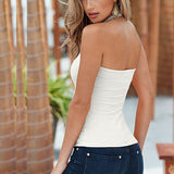 Fashion Women Summer Vest Tops Lady's Sexy Sleeveless Casual Solid Color Tank Tees - thefashionique