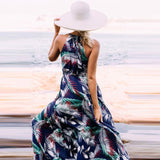 Fashion Women V-Neck Sexy Sleeveless Boho Beach Maxi Dress Summer Ladies Casual Vintage Floral Printed Long Party Dresses #Ni - thefashionique