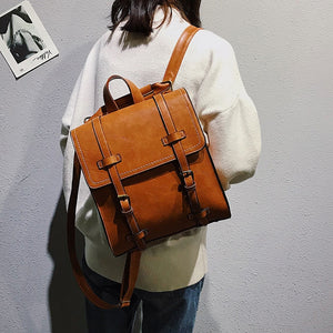 Fashion Women pu Backpack High Quality Youth Leather Backpacks for Teenage Girls Female School Shoulder Bag Bagpack Girl Mochila - thefashionique