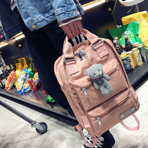 Fashion brand backpack teenage backpacks for girls school bag Backpacks Women Double Zipper Large Capacity Design Square School - thefashionique