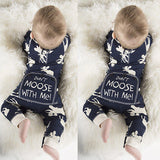 Fashon Newborn Infant Baby Girl Boy Moose Deer Long Sleeve Cotton Romper One-pieces Xmas Outfits Christmas - thefashionique