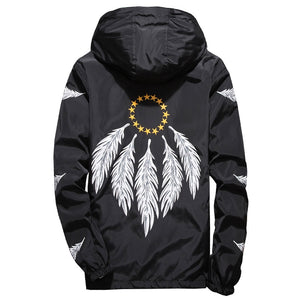 Feather WindJacket WINDBREAKERS Summer Thin Lightweight Jackets Asian Size M-7XL - thefashionique
