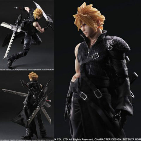 Final Fantasy  Cloud Strife VII 7 Advent Figure PVC  Collection Hobby Model 27cm