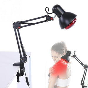 Floor Stand Massage Infrared Heat Physiotherapy Lamp Heating Therapy Light Pain Relief Black Electric Infrared Light Face Care - thefashionique