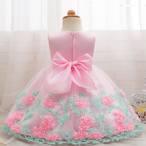 aae02eafcdc88 Floral Baby Girl Dress Baptism Dresses For Girls Princess 1st Year Birthday  Party Wedding Christening Baby