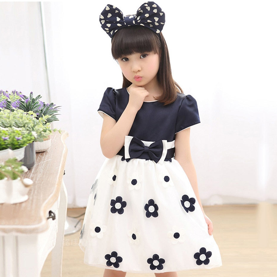 ce849a036ab18 Floral Dress For Big Girls Winter Mesh Girls Dress Bow Kids Clothes  Children's Dress Spring Teen Girls Clothing 6 8 12 Years