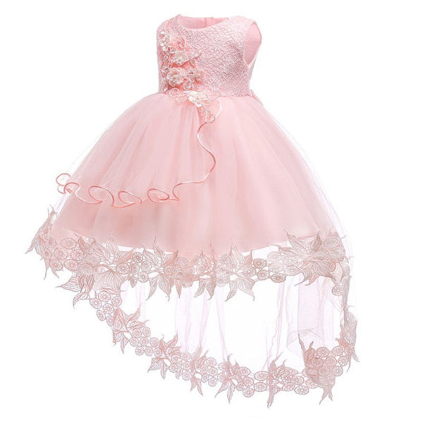 Flower Baby Girls Dress Baptism Dresses for Girls 1st Year Birthday Lace Trailing Party Wedding Christening Baby Infant Clothing - thefashionique