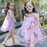 Flower Girls Dress Summer Style Toddlers Teen Children Princess Clothing Fashion Kids Party Clothes Sleeveless Dresses for Girls - thefashionique