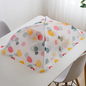 Foldable Mesh Table Food Cover Anti Fly Mosquito Umbrella Strengthen Hygiene Grid Food Dish Cover Kitchen Picnic Food Protector