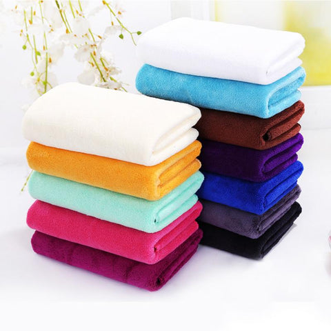 For Adult Thick Bathroom Super Soft Absorbent Quick-drying breathable Microfiber Thick Bath Towel Bath Robe Hair Towel 35cm*75cm
