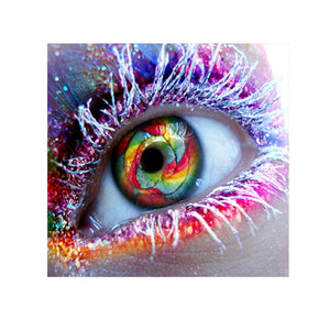 Frameless 5D Diamond Embroidery Painting of Colorful Eye Handmade Wall Decoration Cross Stitch Printing Craft Kits