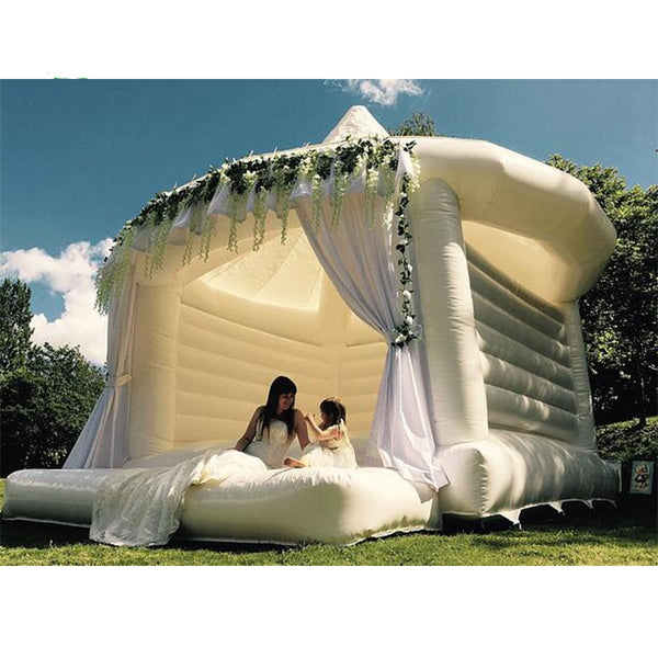 Free Air shipping to door white Inflatable Wedding jumper Bouncer Castle /jumping bed/Bouncy bounce House  and trampoline