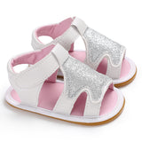 Free Shipping 2018 New Bling Toddler Baby Girl Shoes Non-slip First Walkers Hook and Loop Soft kids Fashion Summer shoes - thefashionique