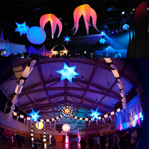 Free shipping 16 colors changing LED light inflatable star in, you can remote-controlled, lower price sale
