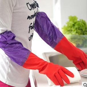 Free shipping 200pairs/lot waterproof rubber gloves, latex gloves kitchen dish washing gloves - thefashionique
