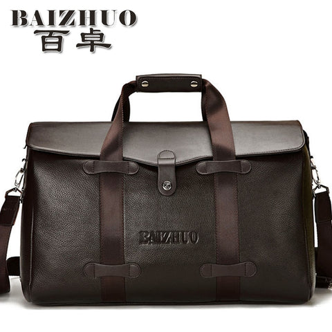 Free shipping 2017 designer brand male genuine leather carry on luggage handbag travel duffel bags dual function bag itemsTB34 - thefashionique