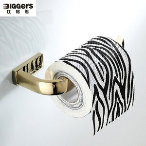 Free shipping Biggers sanitary Luxury Gold-plated copper bathroom toilet paper holder tissue roll holder - thefashionique