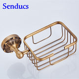 Free shipping Senducs wall mounted brass toilet paper holder with bathroom antique sanitary paper holder for hot sale - thefashionique
