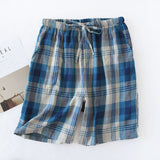 Free shipping,Summer man cotton plaid shorts.mens comfortable shorts,soft homme shorts,thin sleeping shorts.quality.sales. - thefashionique