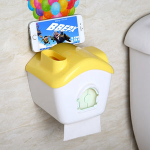 Free shipping Toilet paper towel box Waterproof toilet paper rack Creative suction cup toilet paper towel box Sanitary paper box - thefashionique