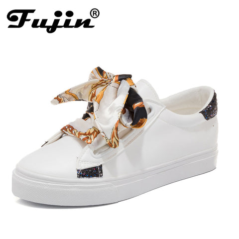 Fujin Fashion Casual Women's Vulcanize Shoes Lace Up Ladies Canvas Shoe Female Leisure Flat Footwear Sneakers Women Summer Shoes