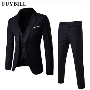 FuyBill New Style Fashion Large Size Men's Business Suit Three Pieces of Suits and Groom Wedding Dress Casual Men's Suit S-6XL - thefashionique