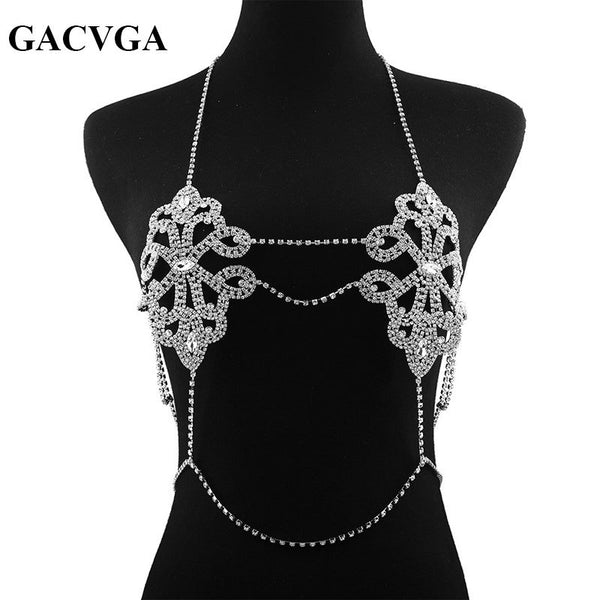 GACVGA 2019 Crystal Women Tank Top Summer Tops Beach Halter Bustier Sexy Club Party Crop Top Blusa T Shirt cropped feminino - thefashionique