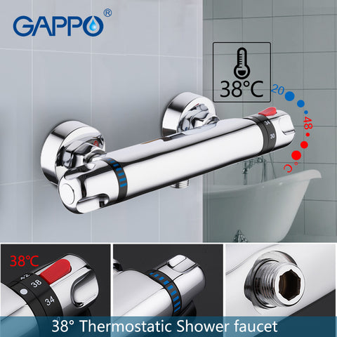 GAPPO shower faucet set bathroom mixer tap bath tub faucet wall mounted thermostat faucet thermostatic mixer shower bath mixer