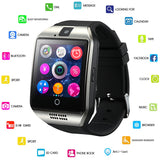 GEJIAN Bluetooth Smart Watch Men Q18 With Touch Screen Big Battery Support TF Sim Card Camera for Android Phone Smartwatch - thefashionique