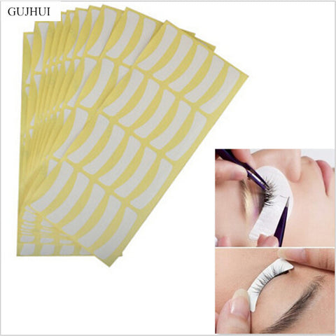 GUJHUI 100 Pairs Under Tape Eyelash False Eye Lashes Individual Extentions Tools Makeup Accessories For Women Girls