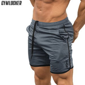 GYMLOCKER Brand New Fashion Casual Men Gyms Shorts Fitness Joggers Workout Bodybuilding Shorts mens Quick dry Beach Sweatpants - thefashionique