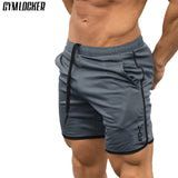GYMLOCKER Brand New Fashion Casual Men Gyms Shorts Fitness Joggers Workout Bodybuilding Shorts mens Quick dry Beach Sweatpants
