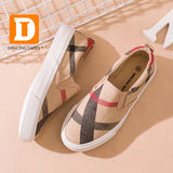 Gingham Striped Children Shoes New 2018 Brand Slip On Canvas Girls Boys Sneakers Fashion Rubber Anti Silppery Spring Kids Shoes - thefashionique