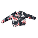 Girls Coat Baby Autumn Winter Long Sleeve Flower Jacket Children Clothes Kids Christmas Outwear - thefashionique