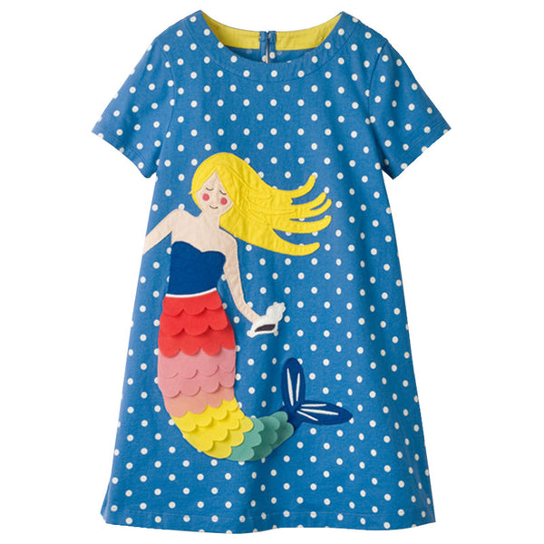 Girls Dress Brand Kids Girl Clothes With Dots Pattern New Design Summer Children Clothing Princess Dresses Vestidos 1-10Years - thefashionique