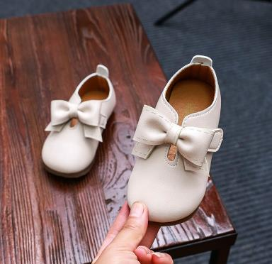 Girls Leather Shoes Bowtie Spring New Princess Baby Single Shoes Infant Toddler Shoes - thefashionique