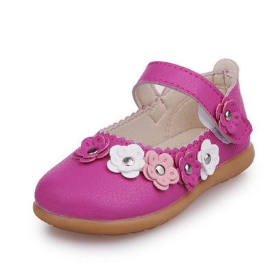 Girls Princess Shoes 2018 New Spring Genuine Leather Children Shoes for Girls Flower Kids Sandals Fashion Baby Toddler Shoes - thefashionique