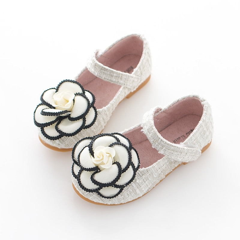 Girls Princess Shoes Autumn New Flat Single Shoes Baby Children Shoes Cute Flowers Dance Shoes For Girls Size26-35 Free Shipping - thefashionique